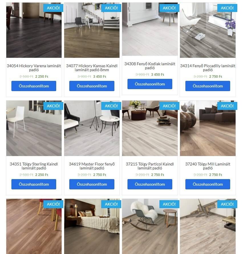 laminált padló akciók