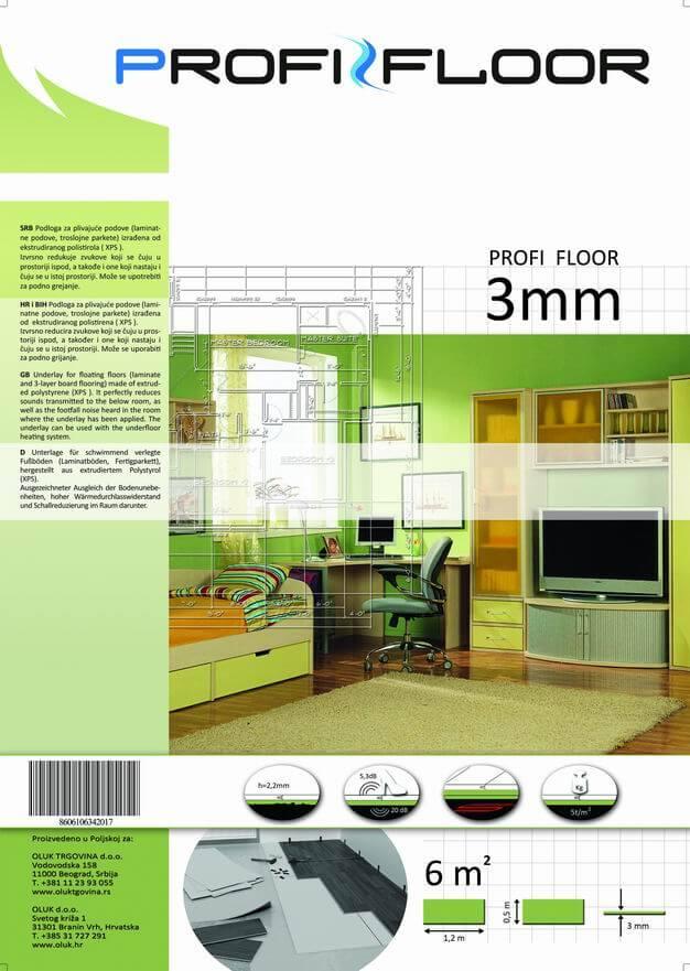 XPS 3,0 mm táblás alátétlemez 390.-m2 6m2-csom.