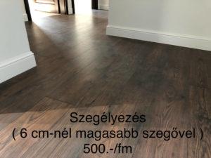 Laminált padló szegély felrakása