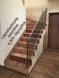 Lépcsőszőnyeg készítés árak