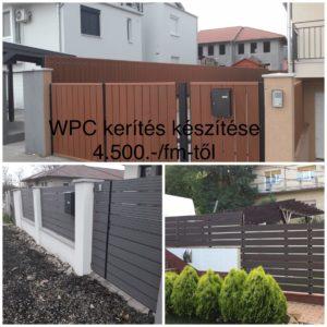 WPC kerítés készítés árak
