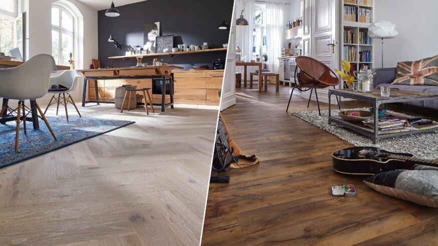 Mi a különbség a laminált padló és a szalagparketta között